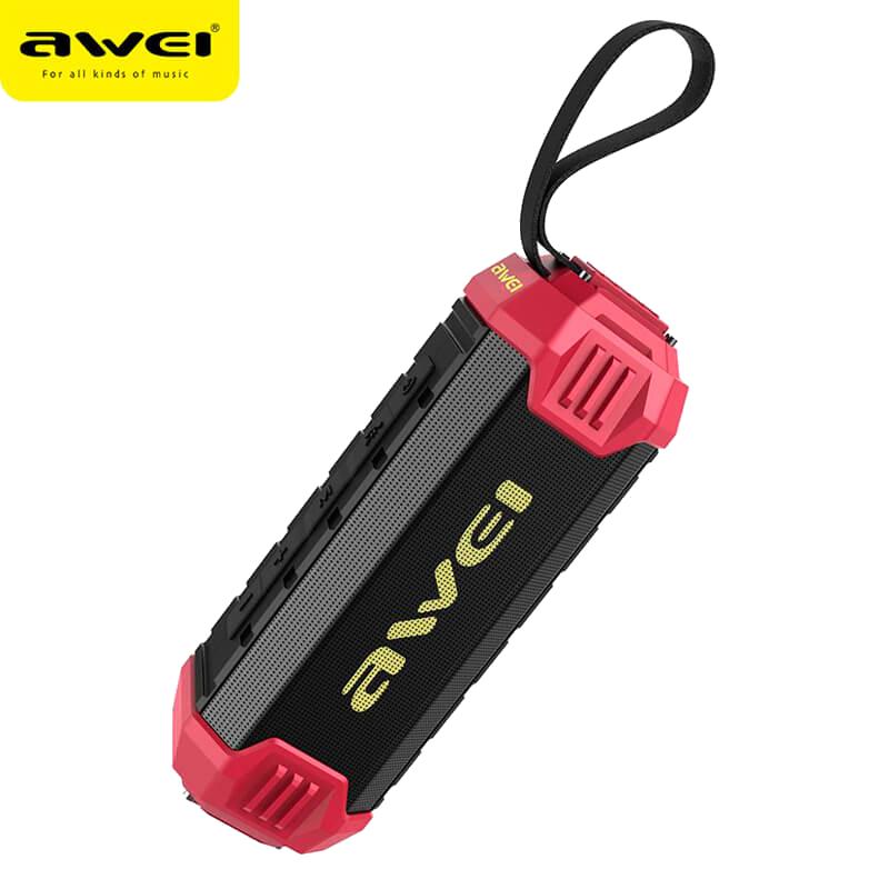 Водонепроницаемая портативная блютуз колонка Awei Bluetooth Y280 стерео Speaker-Power Bank Black